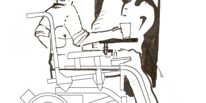 Dibujo de una persona en silla de ruedas