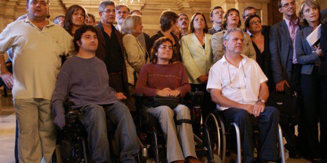 Miembros de la OVI durante un acto oficial