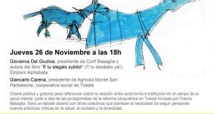 """Cartel de la Charla sobre """"autonomía e institución"""""""