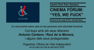 "Cinema fòrum. Projecció de ""Yes, we fuck!"""
