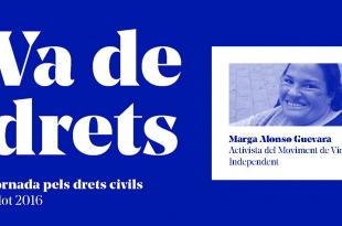 """Marga Alonso en la jornada """"Va de drets"""""""