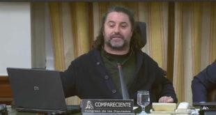 Antonio Centeno durante la comparecencia en la comisión