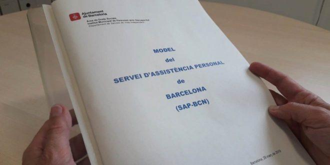 Foto de la versión impresa del Model del Servei d'Assistència Personal