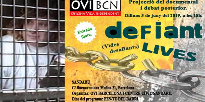 Projecció de Defiant lives (vides desafiants)