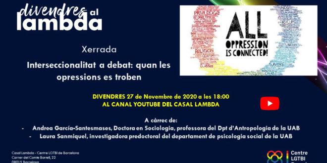 Xerrada – Interseccionalitat a debat: quan les opressions es troben